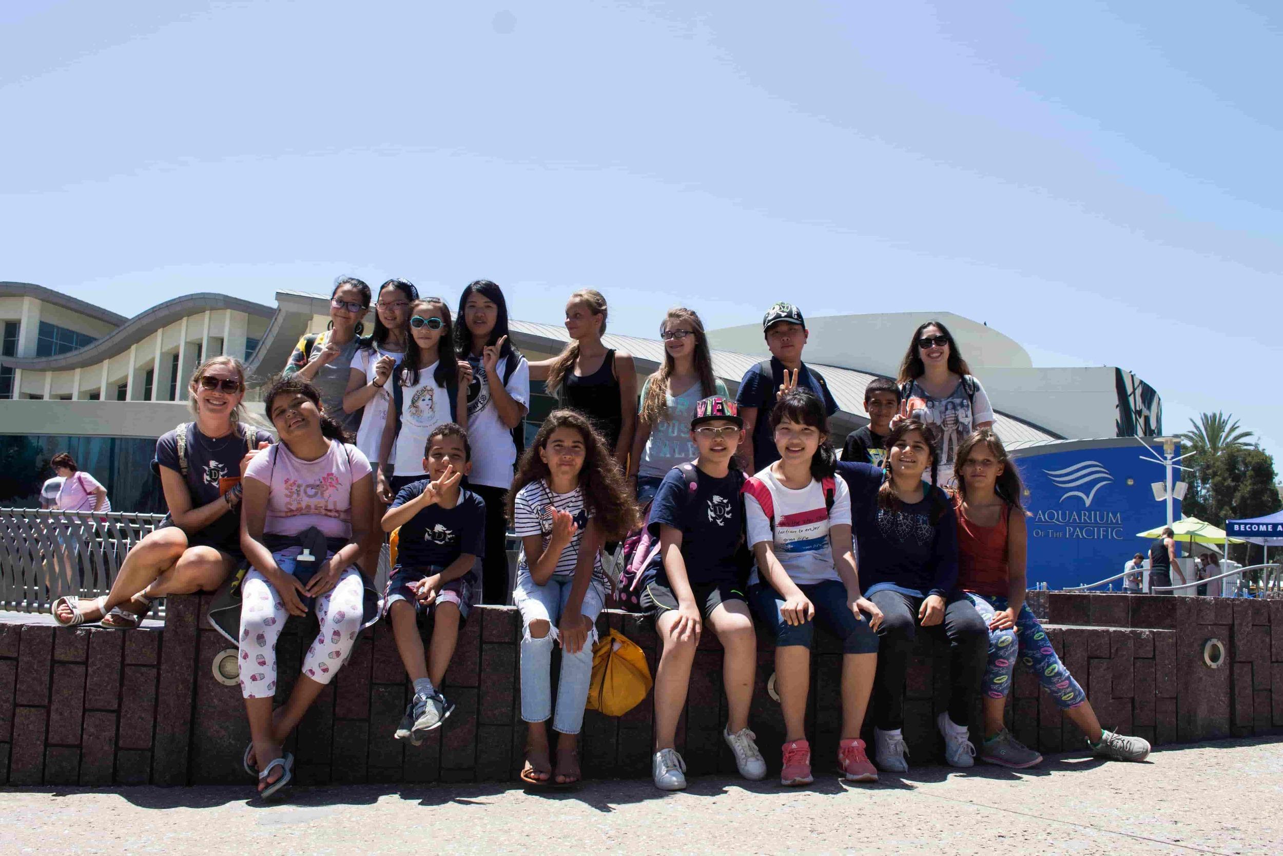 Bonding during English camp