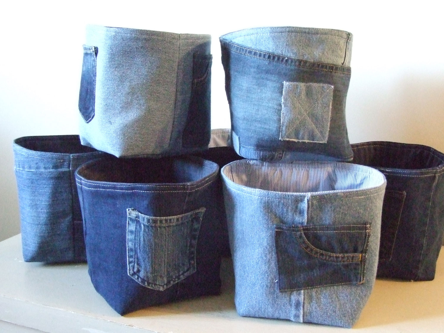 Recycled denim bowls