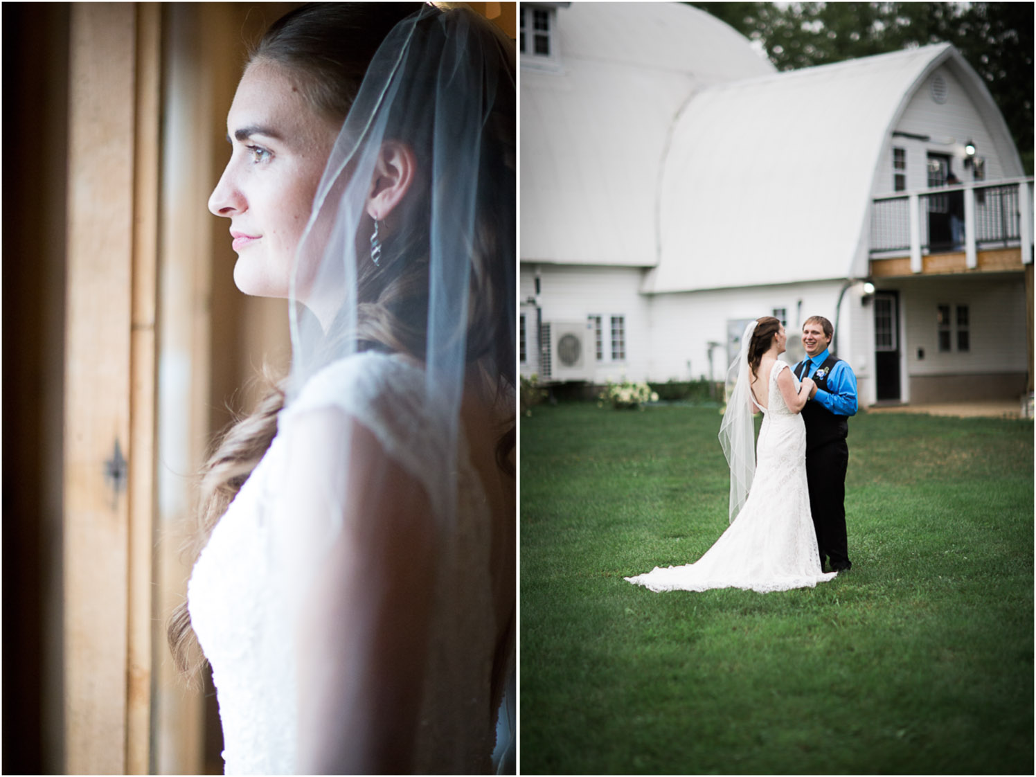 it was raining on and off all morning, but the skies cleared just in time for us to take some portraits outside of Joanna and Sean.