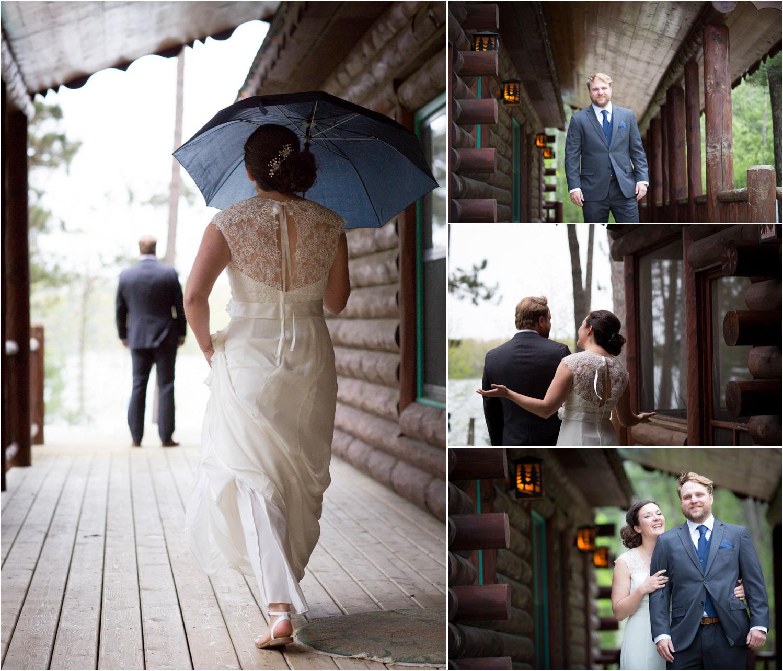 05-cabin-wedding-north-woods-hayward-wisconsin-rainy-day-first-look-bride-and-groom-mahonen-photography