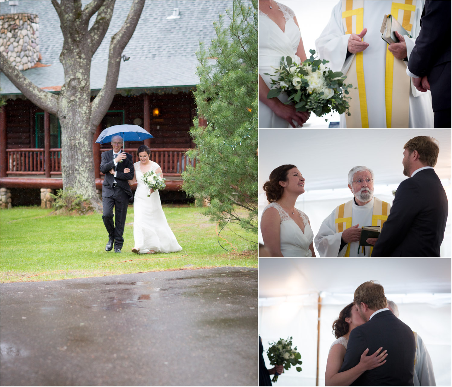 15-rainy-wedding-day-tent-ceremony-back-up-plan-father-of-the-bride-umbrella-first-kiss-mahonen-photography