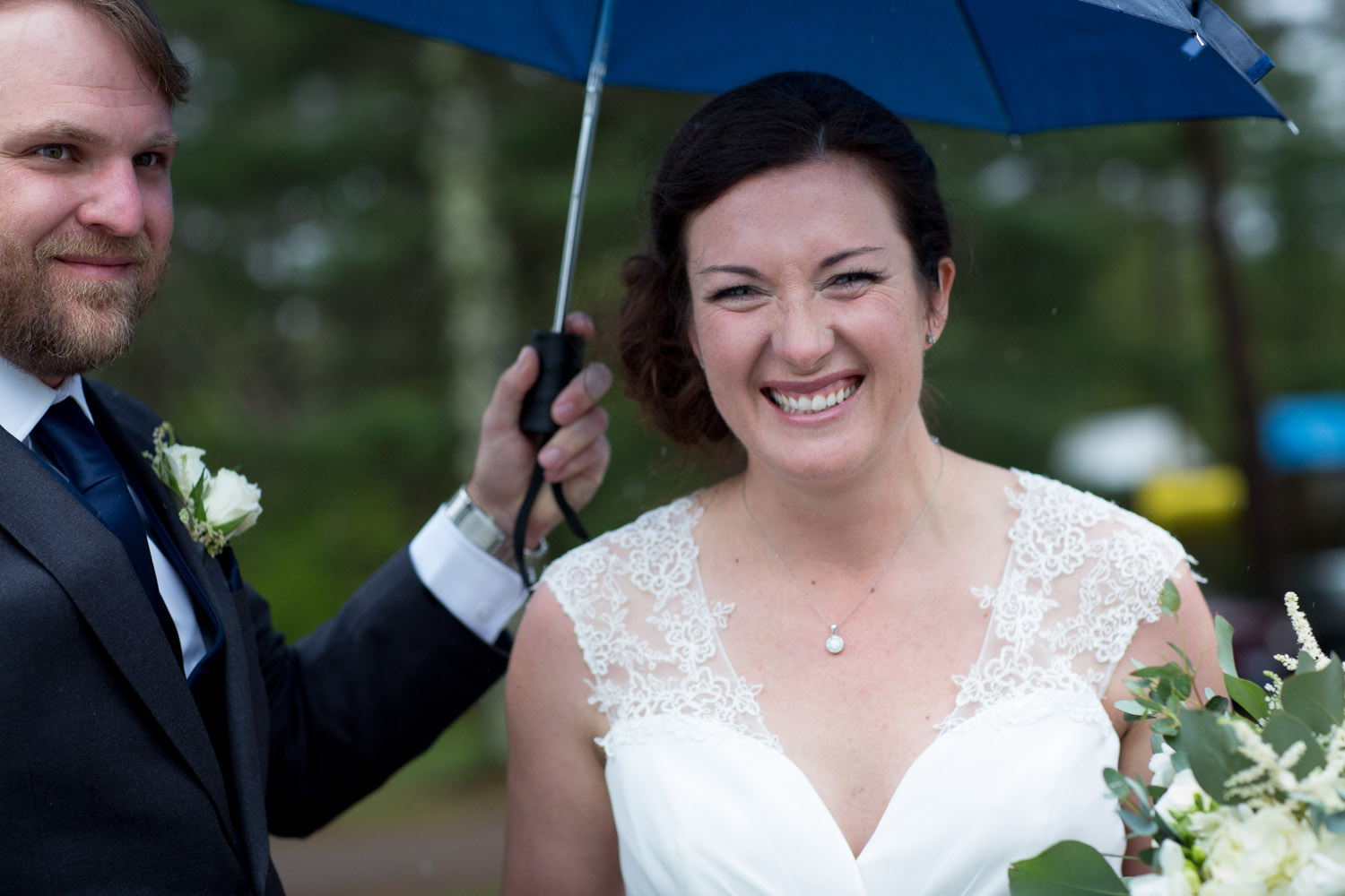 Pure joy post ceremony and dancing in the rain!