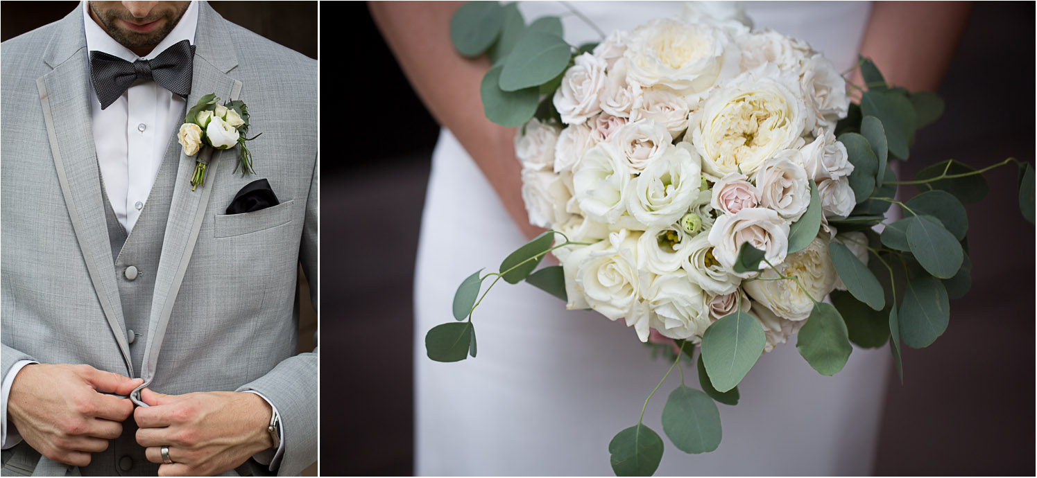 24-wedding-day-details-bridal-bouquet-white-roses-boutineer-grooms-style-gray-suit-bow-tie-mahonen-photography.jpg