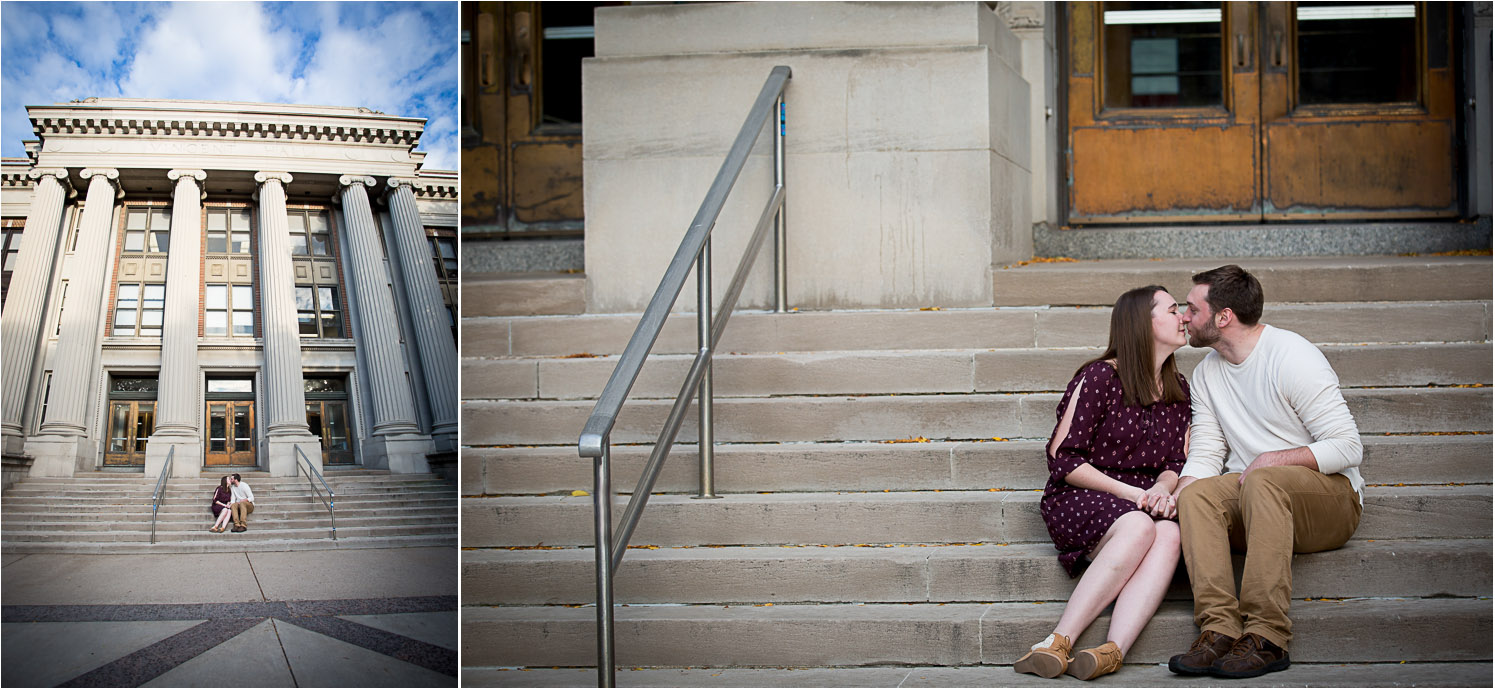 We even grabbed a few images in front of Vincent Hall where Briana and William both studied for the math degrees!