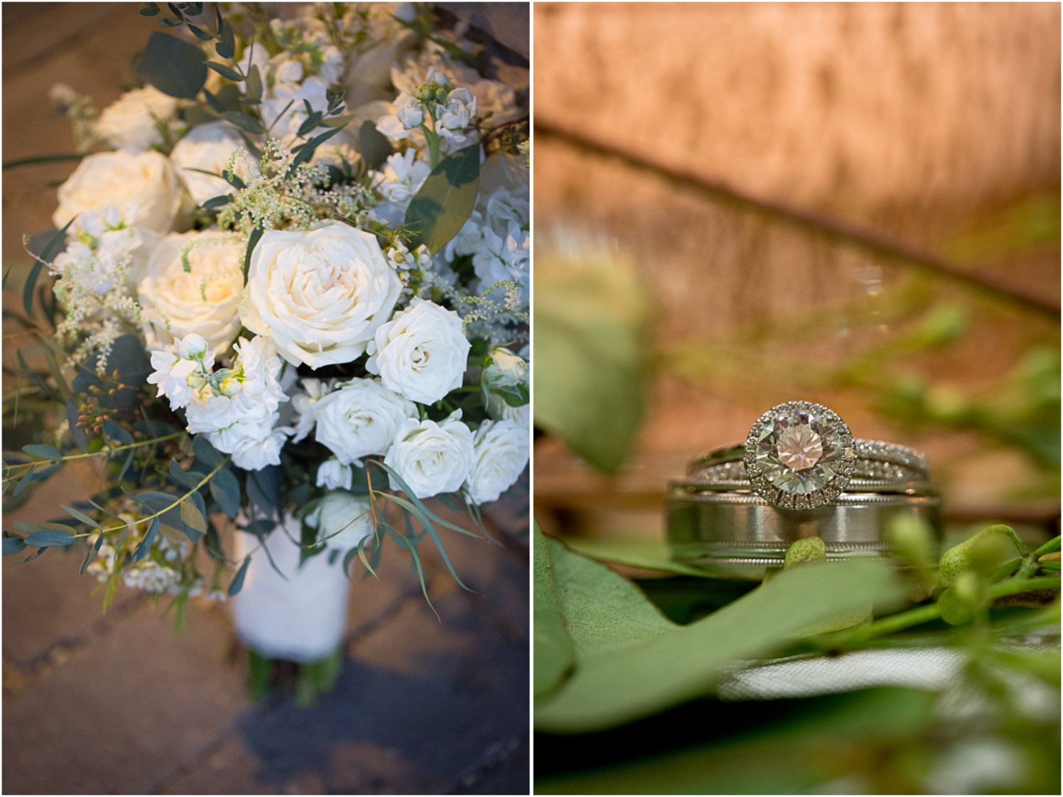 19-wedding-reception-details-winter-bridal-boquet-white-roses-greenery-rings-mahonen-photography.jpg