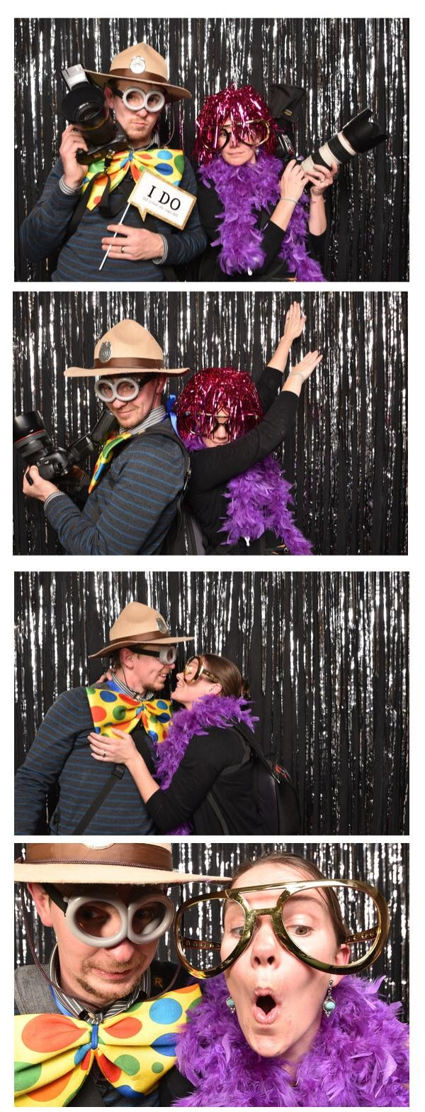 Sometimes we act a little funny in the photobooth.