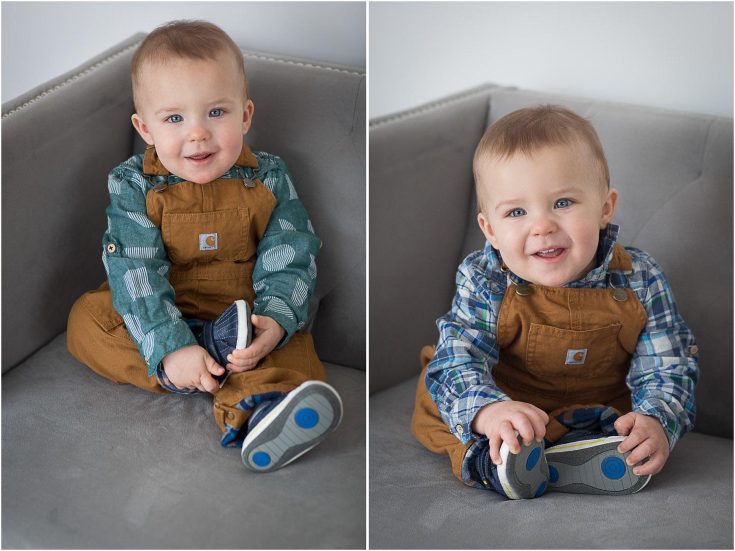 02-twin-boys-one-year-photo-session-studio-gray-couch-carhardt-overalls-block-studios-minnesota-mahonen-photography.jpg