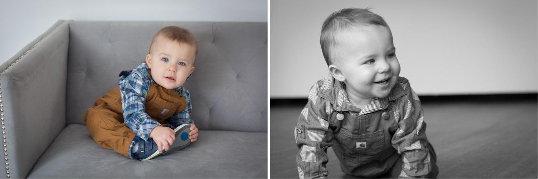 03-twin-boys-one-year-photo-session-studio-gray-couch-carhardt-overalls-block-studios-minnesota-mahonen-photography.jpg