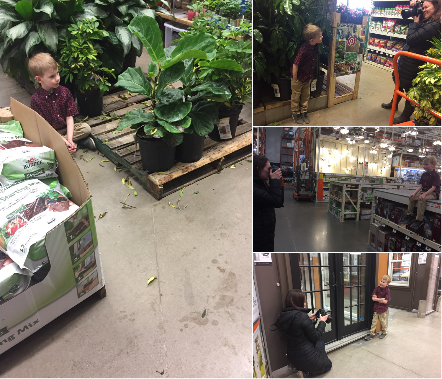 And here are a few behind the scenes shots to show what we were working with!