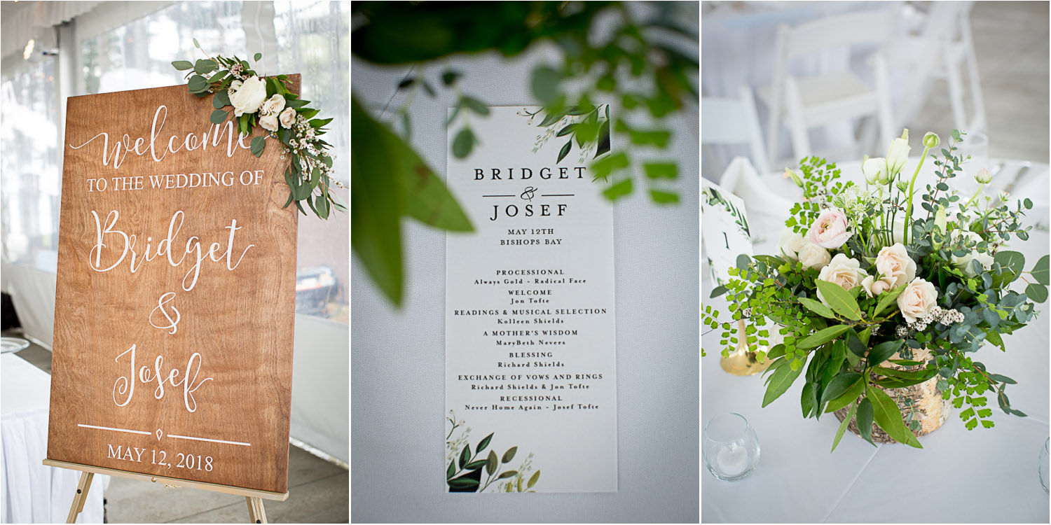 15-spirng-wedding-day-details-wooden-calligraphy-welcome-sign-menu-floral-centerpiece-pink-roses-greenry-birch-container-mahonen-photography.jpg