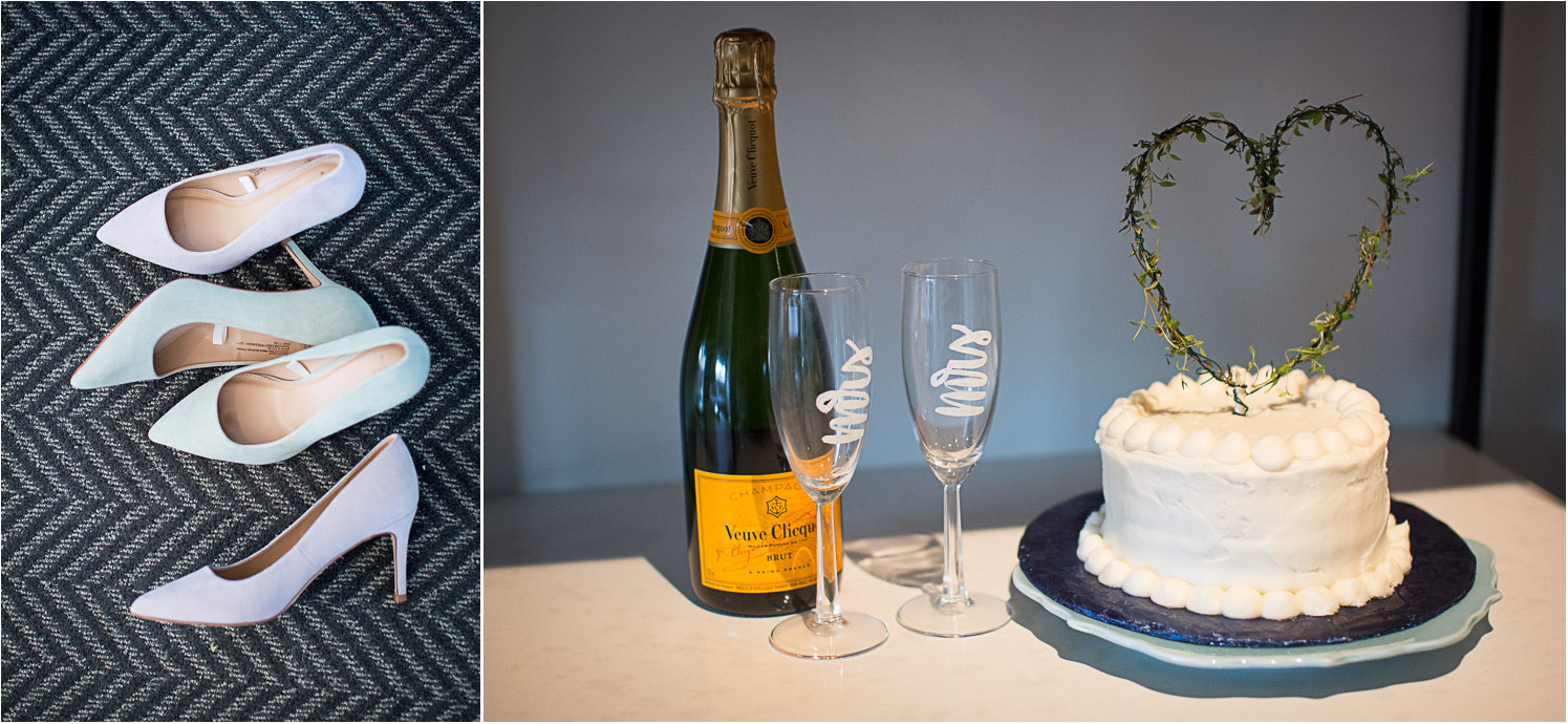 02-same-sex-wedding-minneapolis-photographer-details-lavender-mint-heels-simple-cake-mrs-and-mrs-champagne-glasses-mahonen-photography.jpg