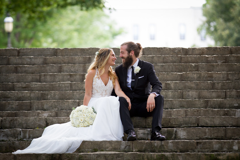 12-the-landmark-center-st-paul-mn-wedding-photographer-irvine-park-stone-stairs-bride-and-groom-happy-casual-lifestyle-portrait-unposed-mahonen-photography.jpg