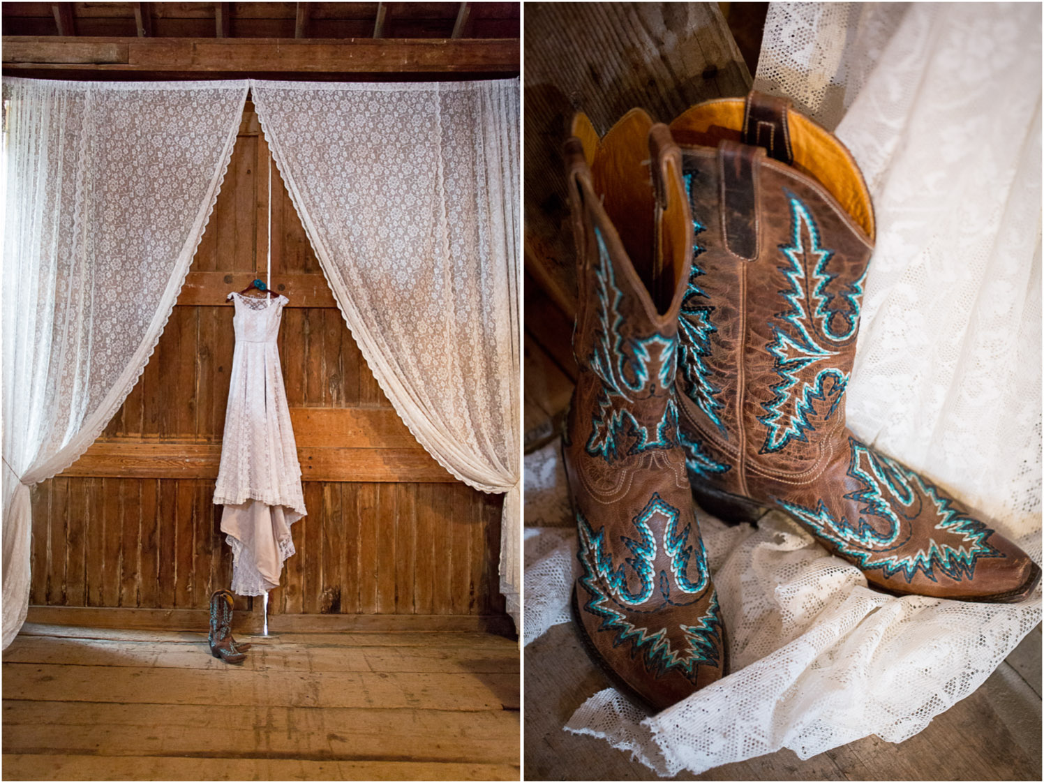 09-dellwood-barn-minnesota-wedding-photographer-farm-bridal-details-heirloom-dress-lace-gown-cowboy-boots-curtains-mahonen-photography.jpg