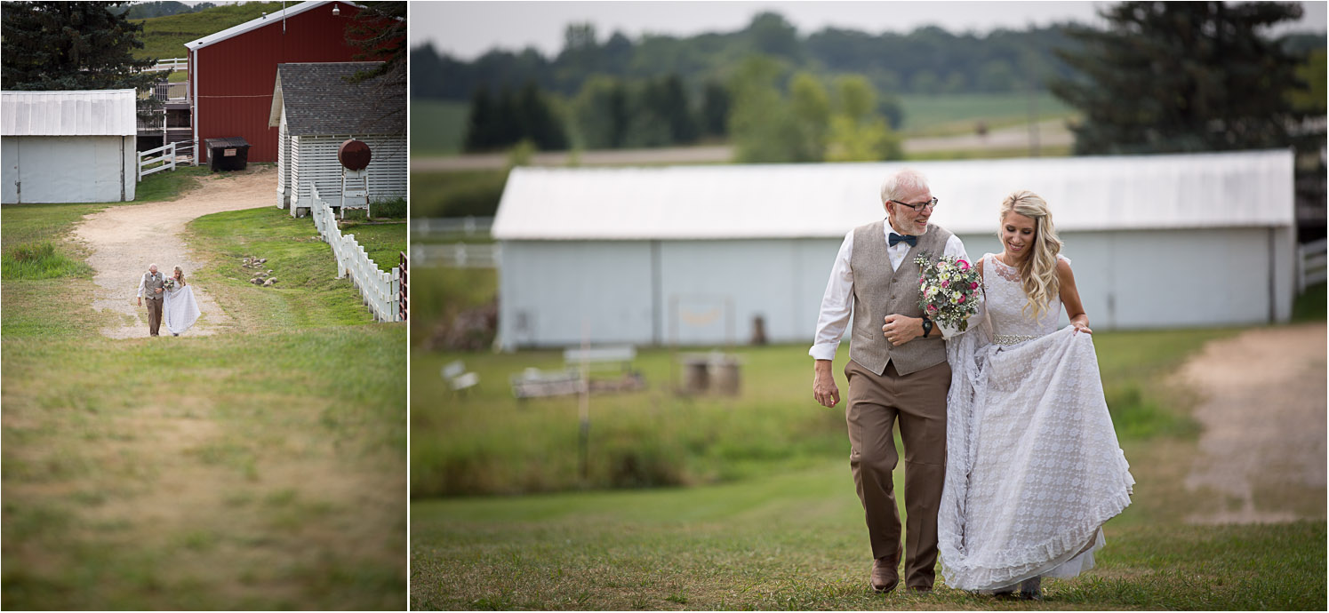 13-dellwood-barn-weddings-minnesota-wedding-photographer-outdoor-summer-ceremony-grassy-field-here-comes-the-bride-father-daughter-mahonen-photography.jpg
