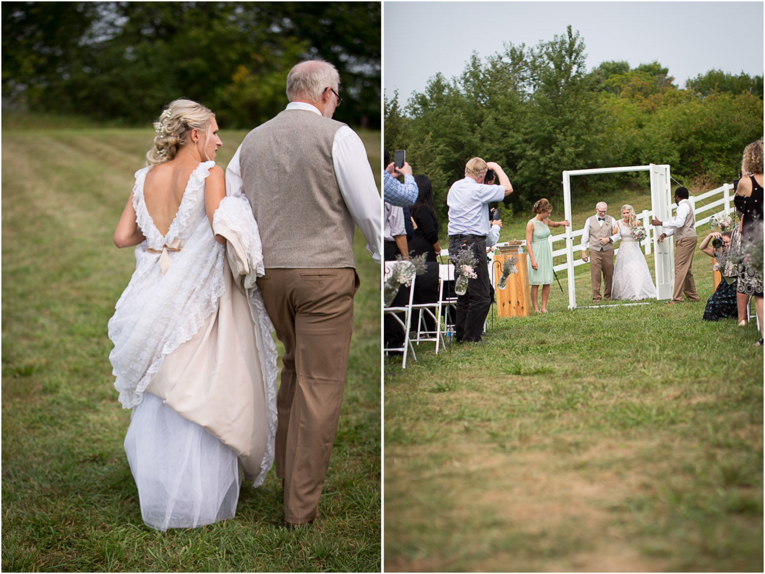 14-dellwood-barn-weddings-minnesota-wedding-photographer-outdoor-summer-ceremony-grassy-field-here-comes-the-bride-father-daughter-antique-doors-mahonen-photography.jpg