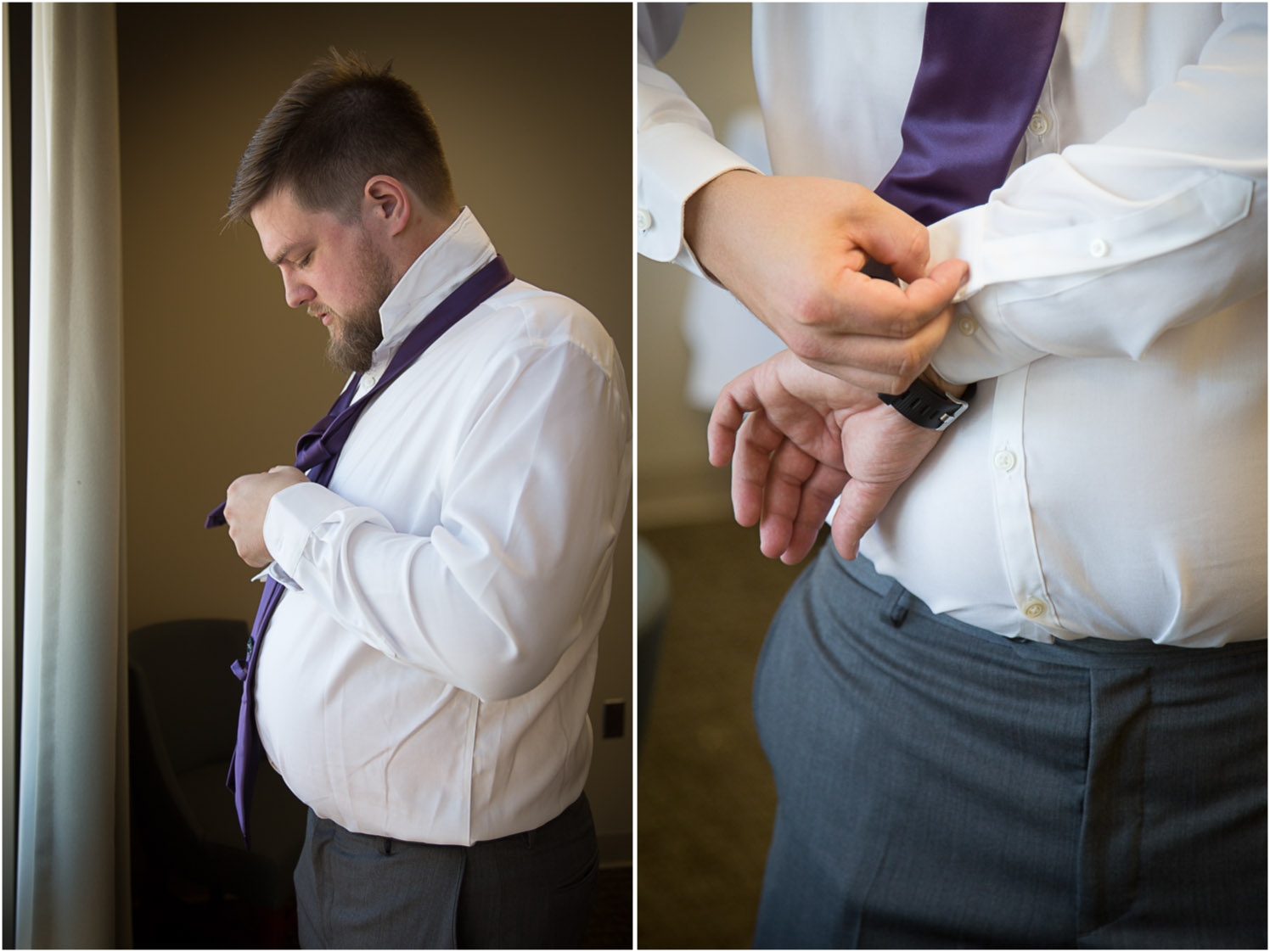 04-university-of-minnesota-campus-club-wedding-photographer-groom-getting-ready-purple-tie-mahonen-photography.jpg