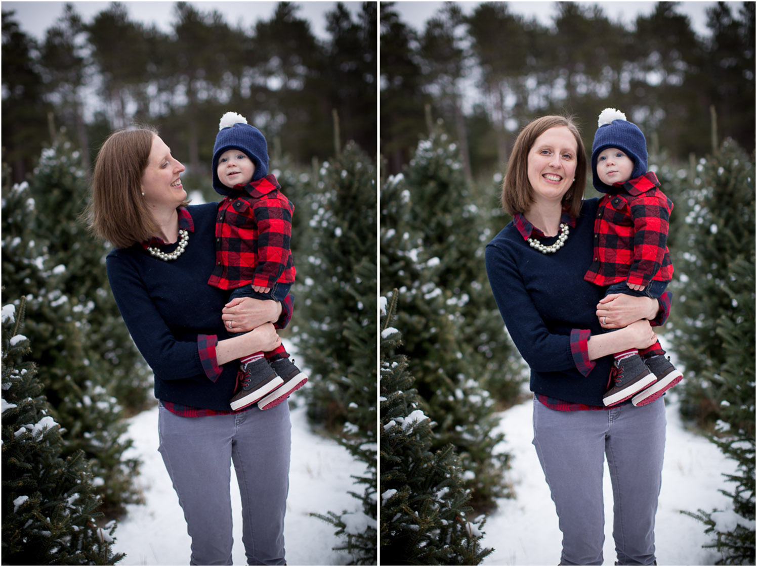 04-hansen-tree-farm-christmas-family-photographer-mn-mother-son-winter-plaid-red-and-navy-mahonen-photography.jpg