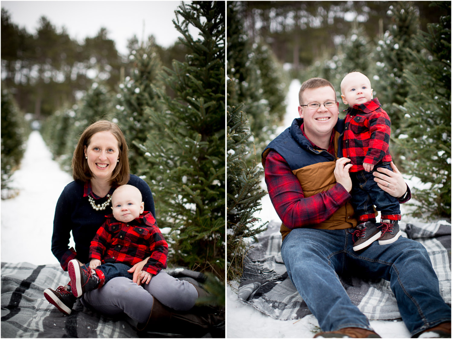 08-hansen-tree-farm-christmas-family-of-three-photographer-mn-mother-father-son-winter-gray-plaid-blanket-mahonen-photography.jpg