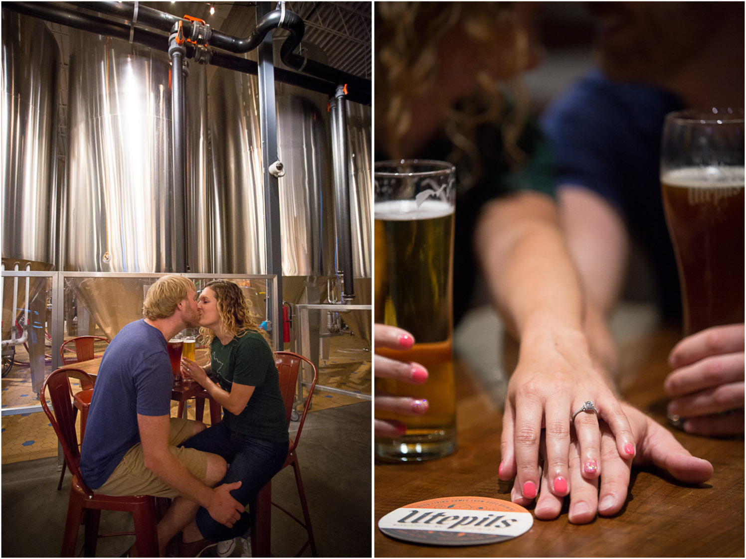 These two like to try new beers at different breweries around the Twin Cities. So after taking some photos at a local park, we headed to Utepils for some images in their tasting room.