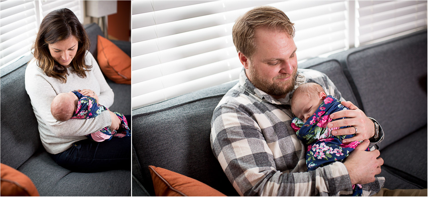 06-in-home-lifestyle-minnesota-newborn-photographer-navy-pink-floral-wrap-mom-and-dad-new-parents-mahonen-photography.jpg