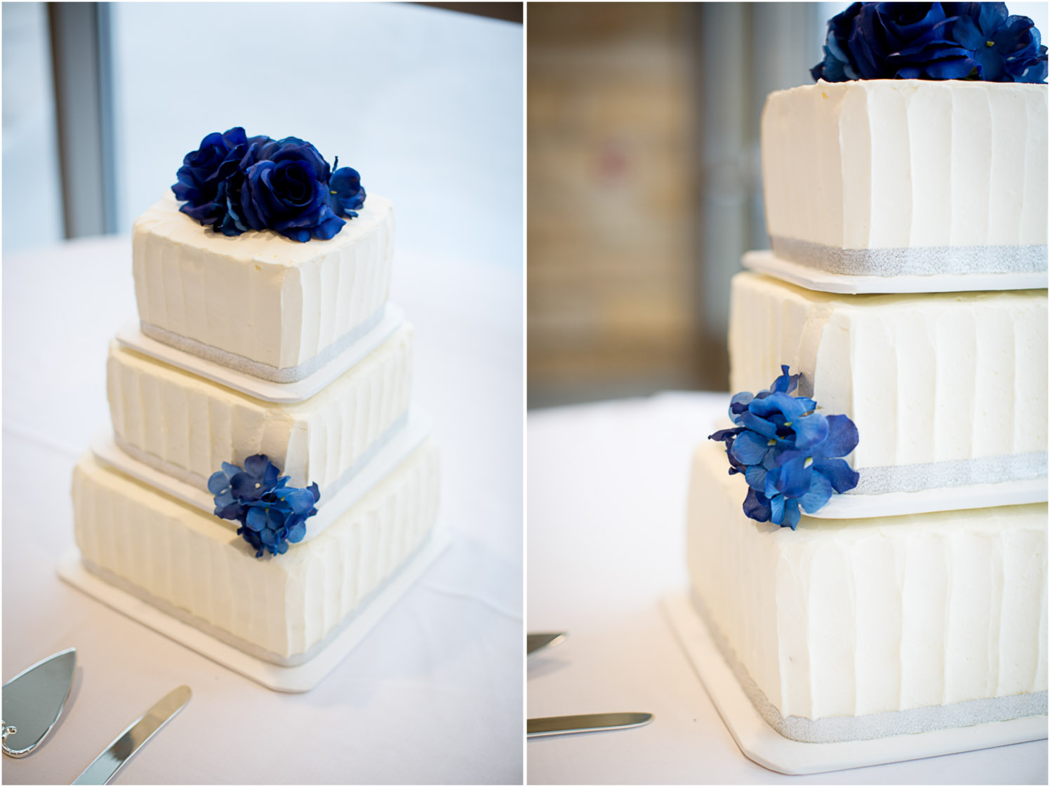 16-eagan-community-center-weddings-minnesota-winter-rain-wedding-white-cake-blue-flowers-mahonen-photography.jpg