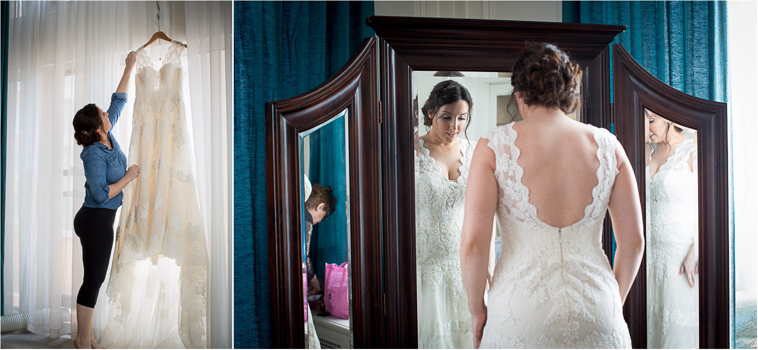 03-greysolon-ballroom-duluth-minnesota-summer-wedding-bride-getting-ready-lace-gown-mirror-mahonen-photography.jpg