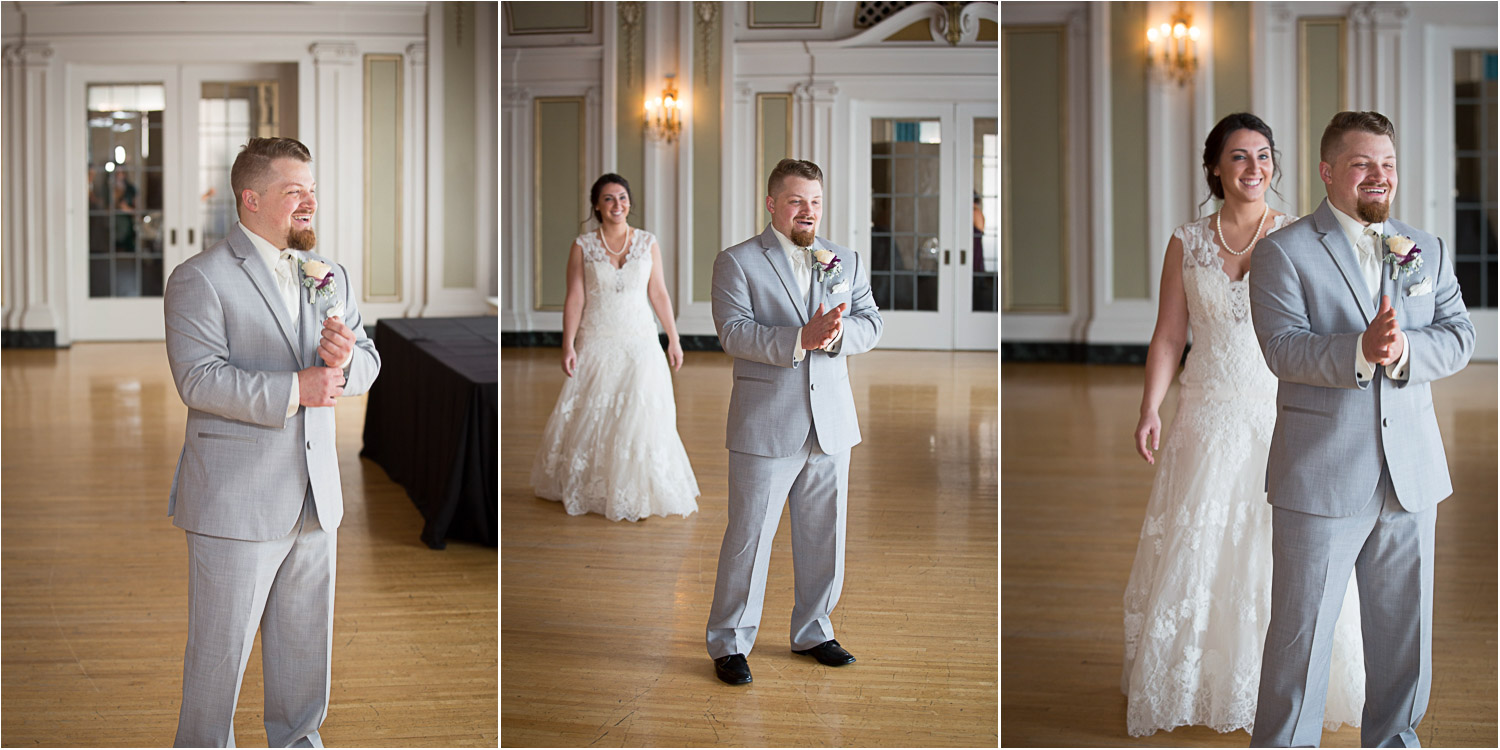 04-greysolon-ballroom-duluth-minnesota-summer-wedding-bride-and-groom-first-look-lace-gown-gray-suit-mahonen-photography.jpg