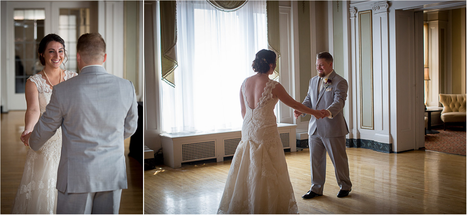 05-greysolon-ballroom-duluth-minnesota-summer-wedding-bride-and-groom-first-look-lace-gown-gray-suit-mahonen-photography.jpg