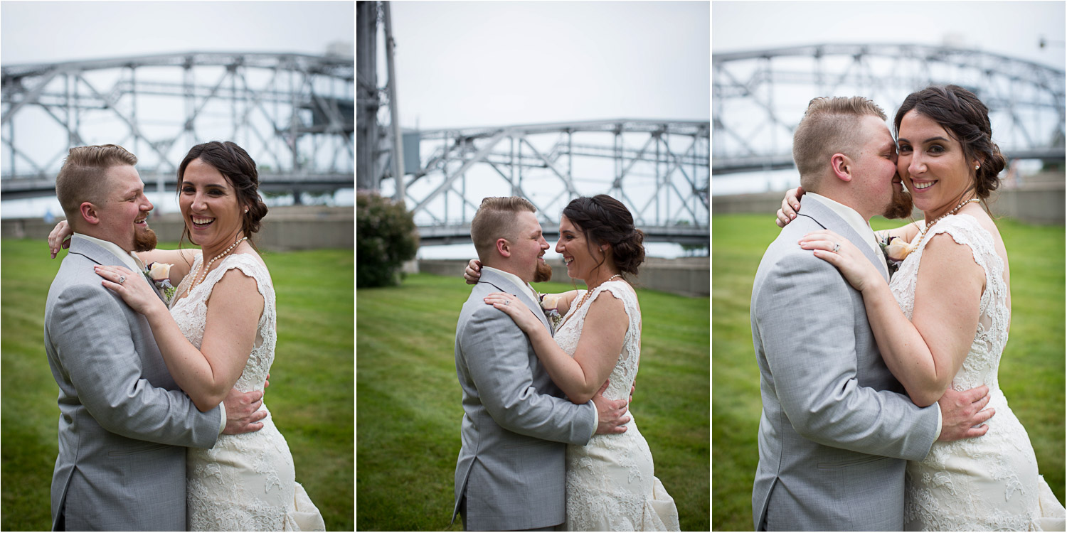 17-greysolon-ballroom-duluth-minnesota-summer-wedding-downtown-duluth-bride-and-groom-fun-casual-portraits-lift-bridge-mahonen-photography.jpg
