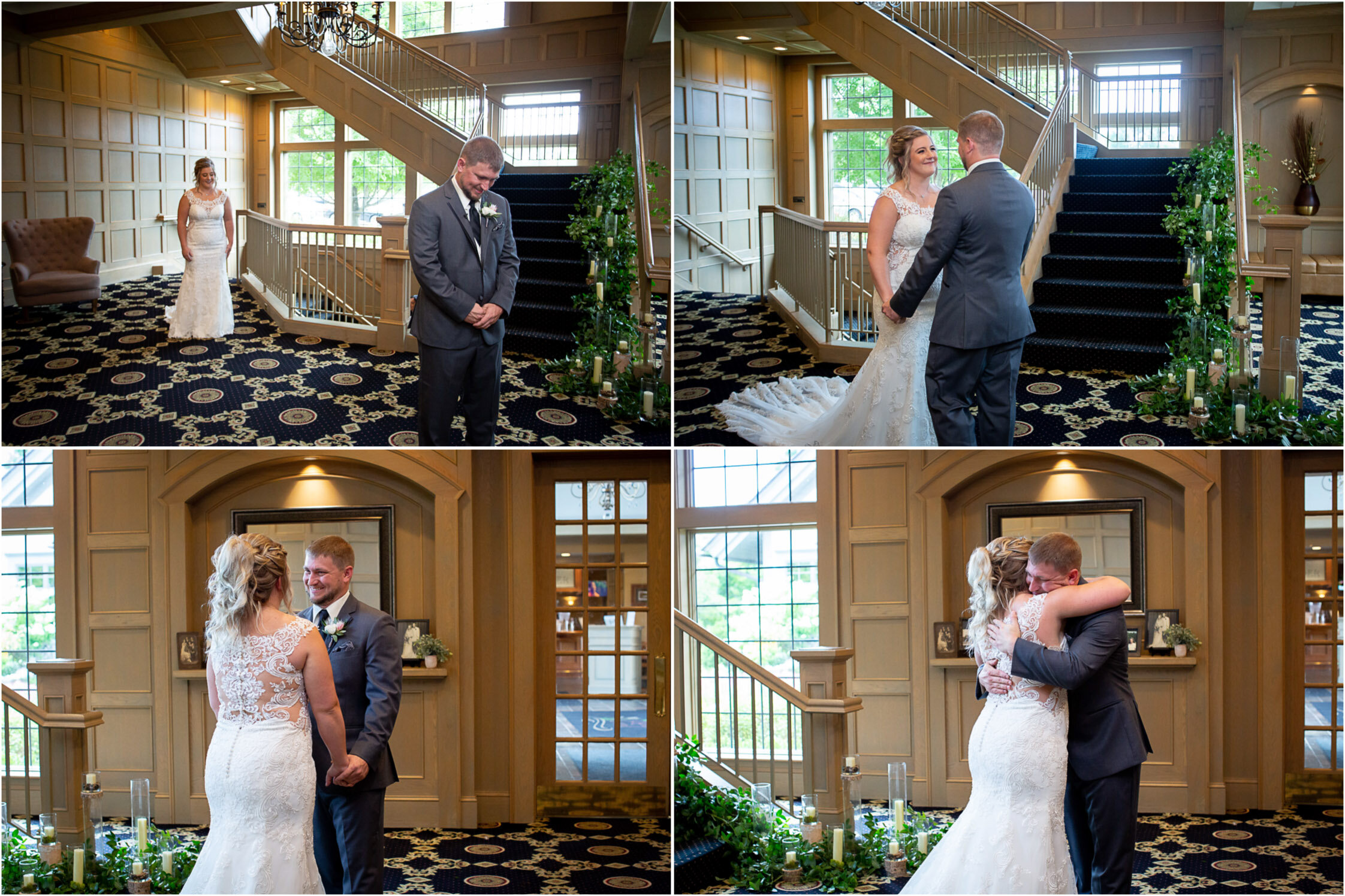 06-rush-creek-golf-course-bride-groom-first-look-grand-staircase-mahonenphotography-mn-wedding-photographer.jpg