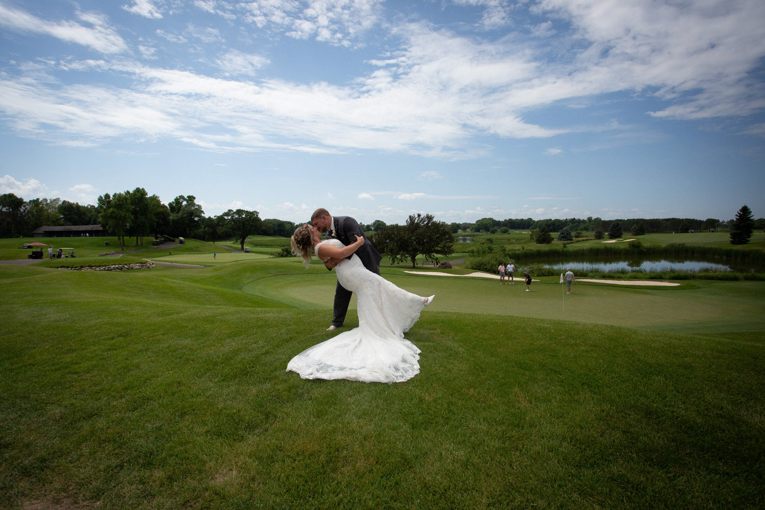 15-rush-creek-golf-course-bride-groom-portrait-outside-path-mahonenphotography-mn-wedding-photographer.jpg