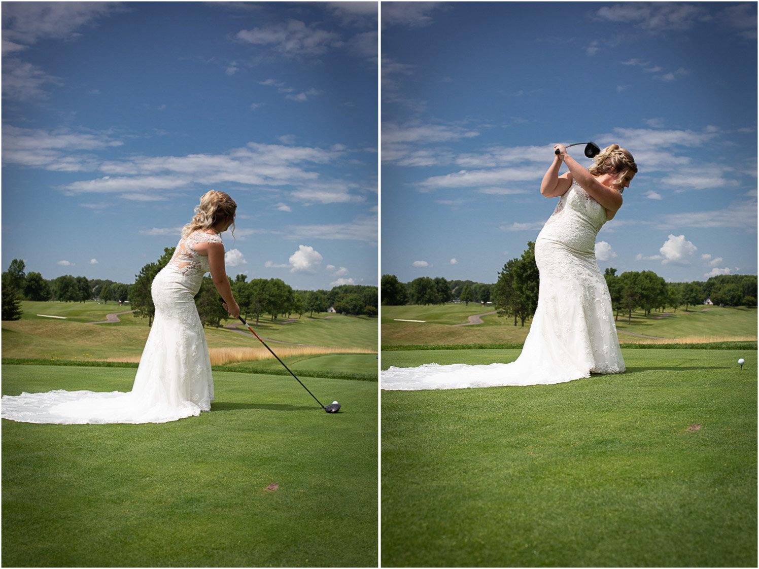 17-rush-creek-golf-course-bride-tee-off-golfing-mahonenphotography-mn-wedding-photographer.jpg