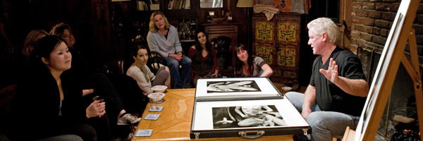 Kim Weston showing his work