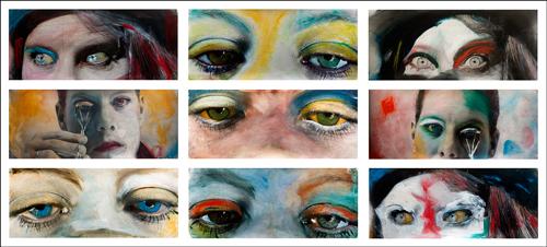 """Kim Weston Painted """"Eyes"""" Photographs"""