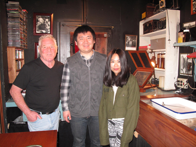 Kim Weston and Mr Lu from the Timeless Gallery Beijing China