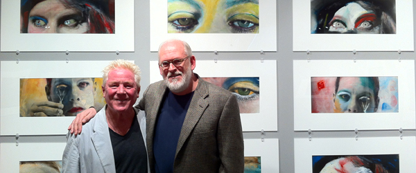 Kim Weston with Huntington Witherill curator of The Painted Photograph Show at Center for Photographic Art