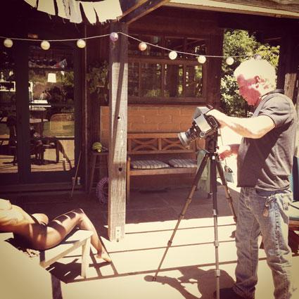 Kim Weston Photographing in Big Sur CA