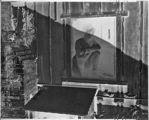 """Edward Weston - Original Negative """"Spring 1943""""This negative called """"Spring"""" was photographed at Wildcat Hill in 1943. The nude in the photo is Charis Wilson, Edward's last wife. Edward Weston photographed many wonderful photographs of Charis around his home during the 1940's."""