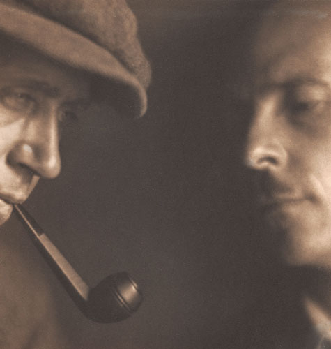 Johan Hagemeyer and Edward Weston by Margrethe Mather 1921