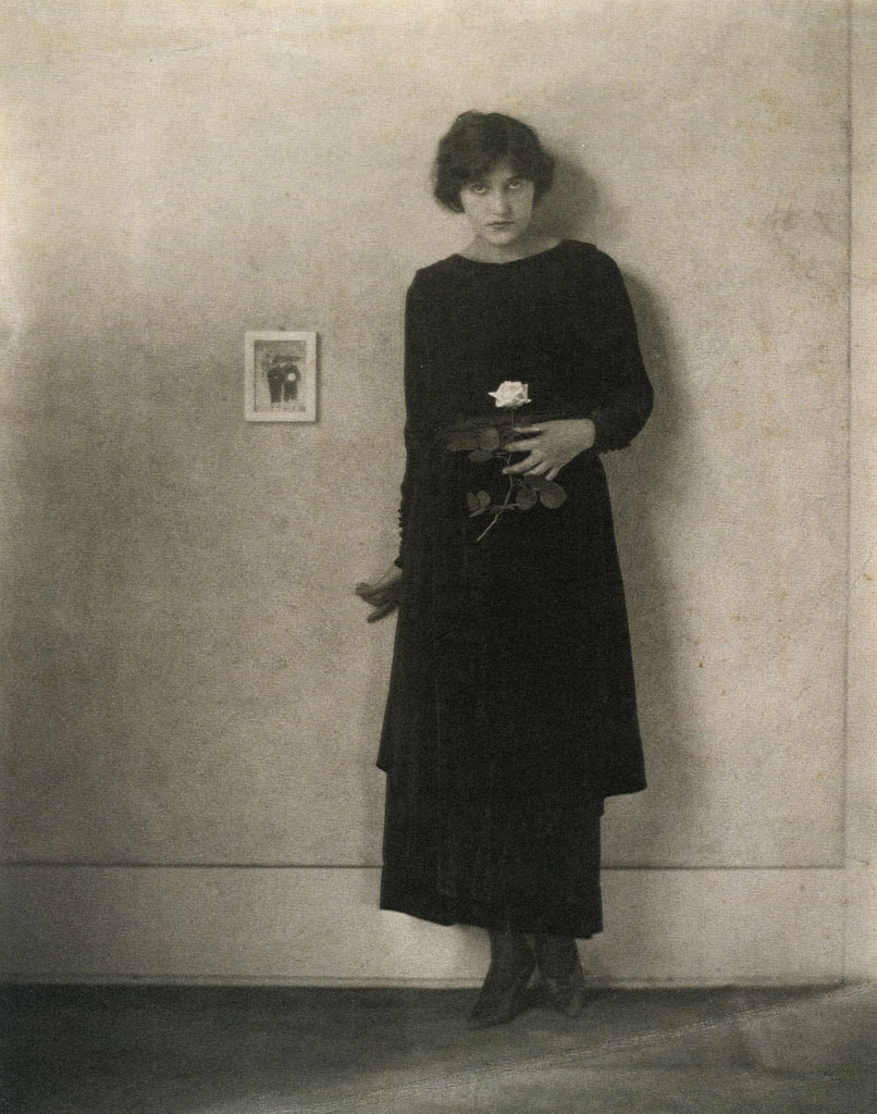Florence Deshon with Rose (1919) - Margrethe Mather