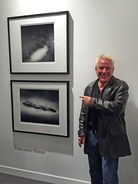 Kim Weston with Francesco Bosso's Photographs