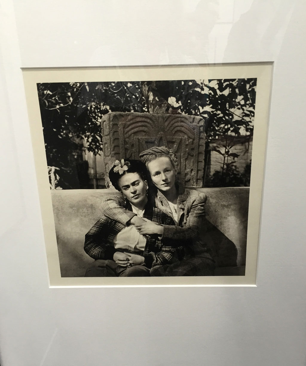 Frida Kahlo and Emmy Lou Packard in Coyoacan