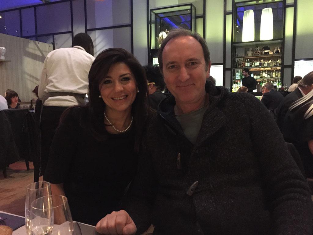 Friends Giovanna Delvecchio and Francesco Bosso