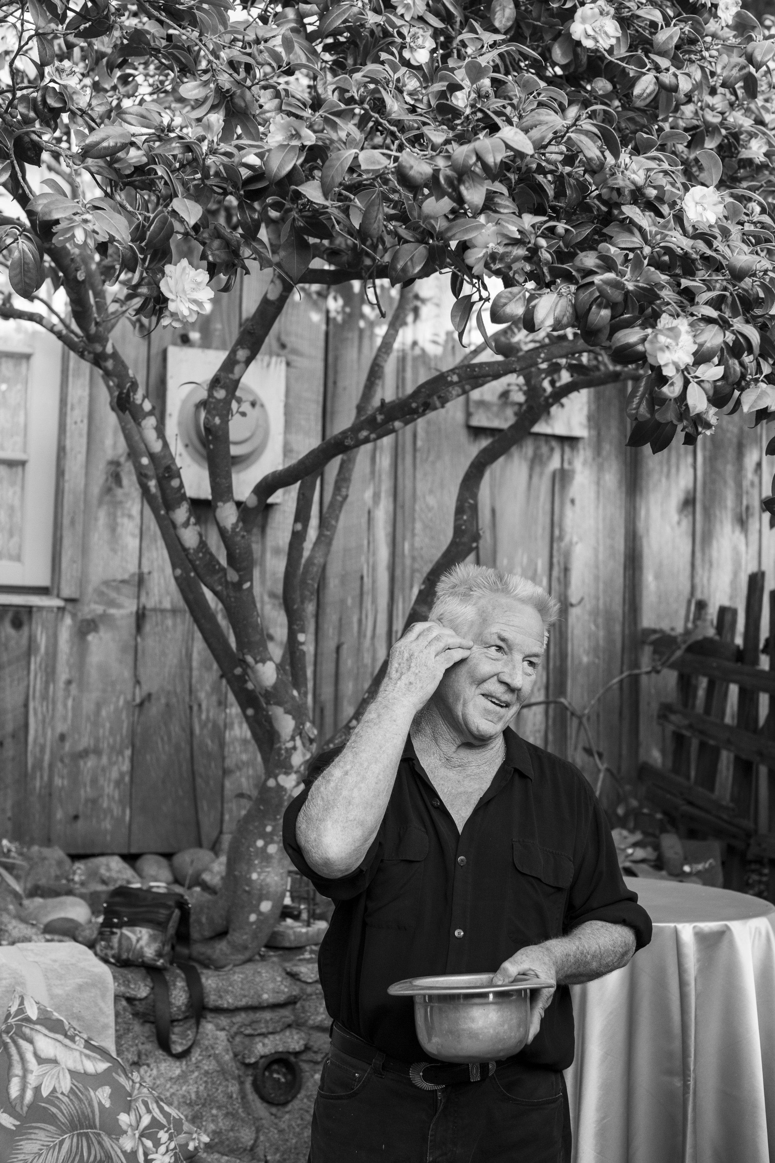 Kim Weston in his grandfather's darkroom on Wildcat Hill.