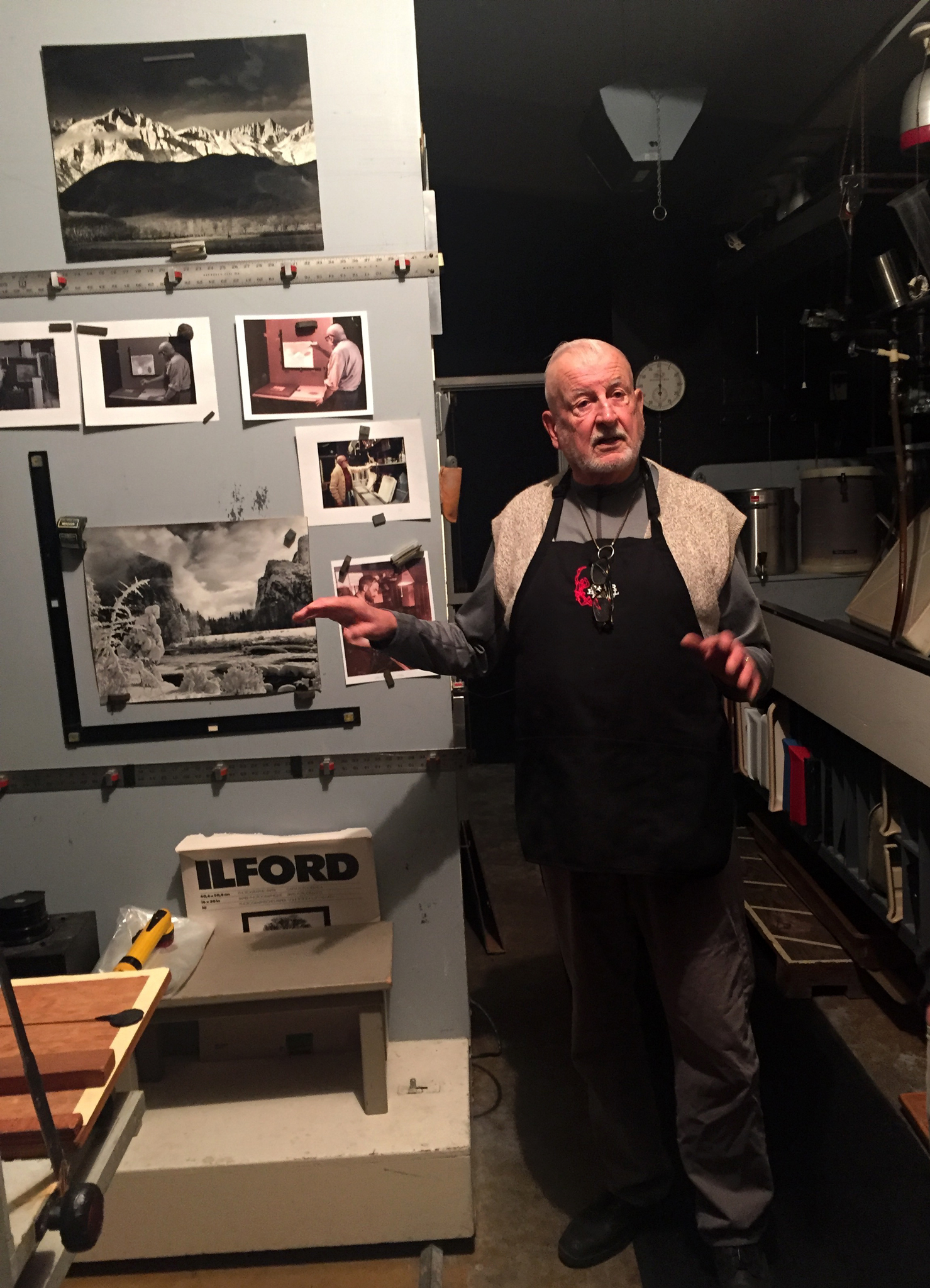 Michael Adams talking about Ansel's darkroom and workspace at his home in the Carmel Highlands