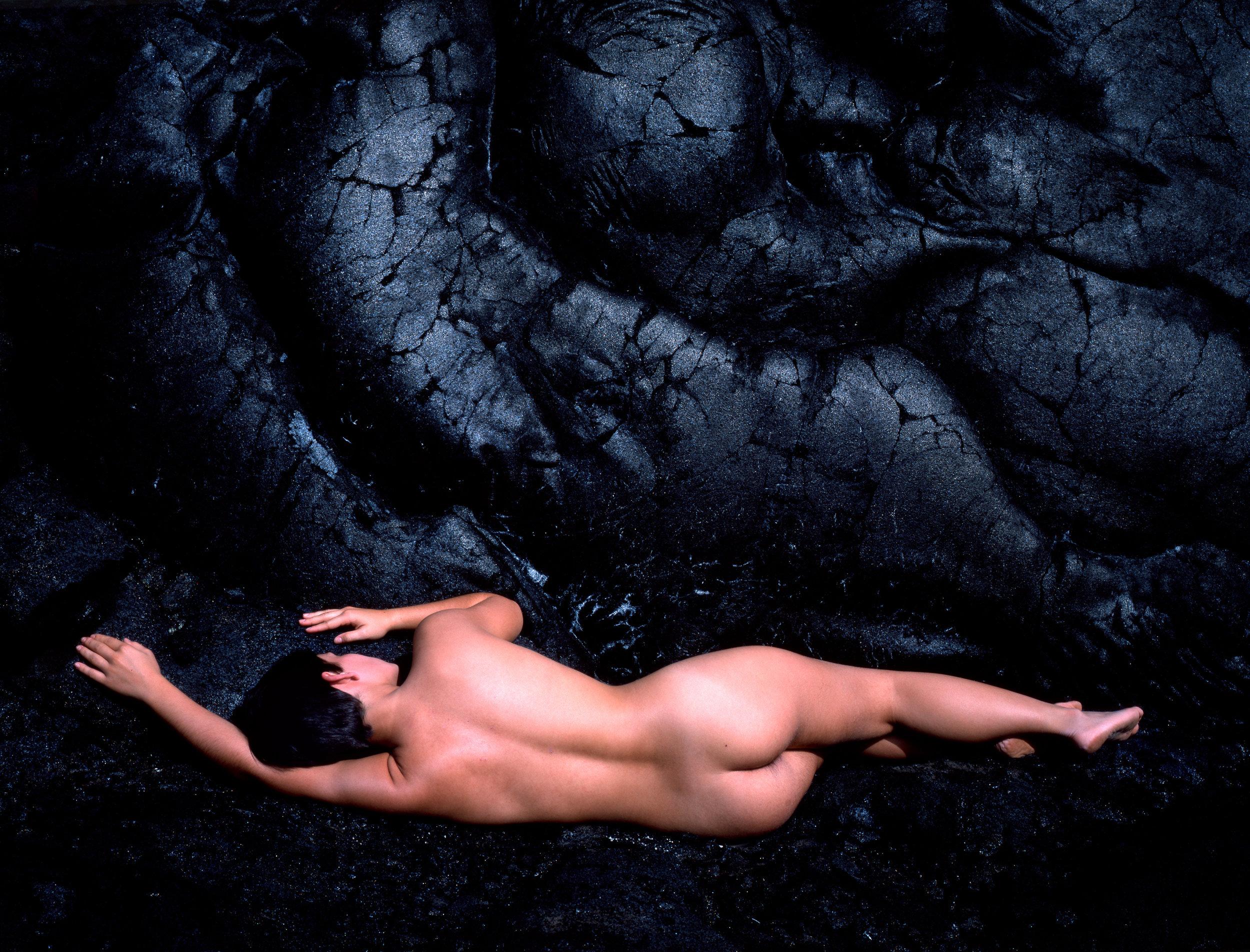 Nude and Lava, Hawaii, 1984