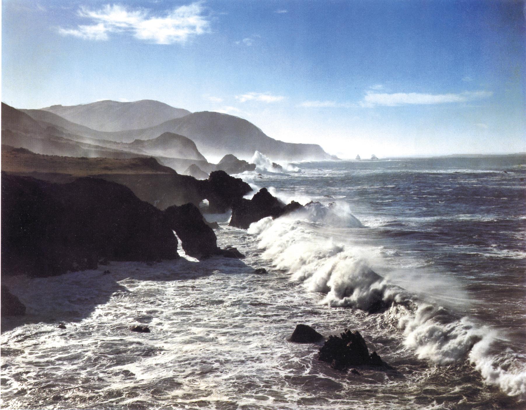Surf and Headlands, California, 1958