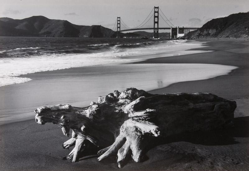 ©Pirkle Jones - Log and Golden Gate Bridge 1952
