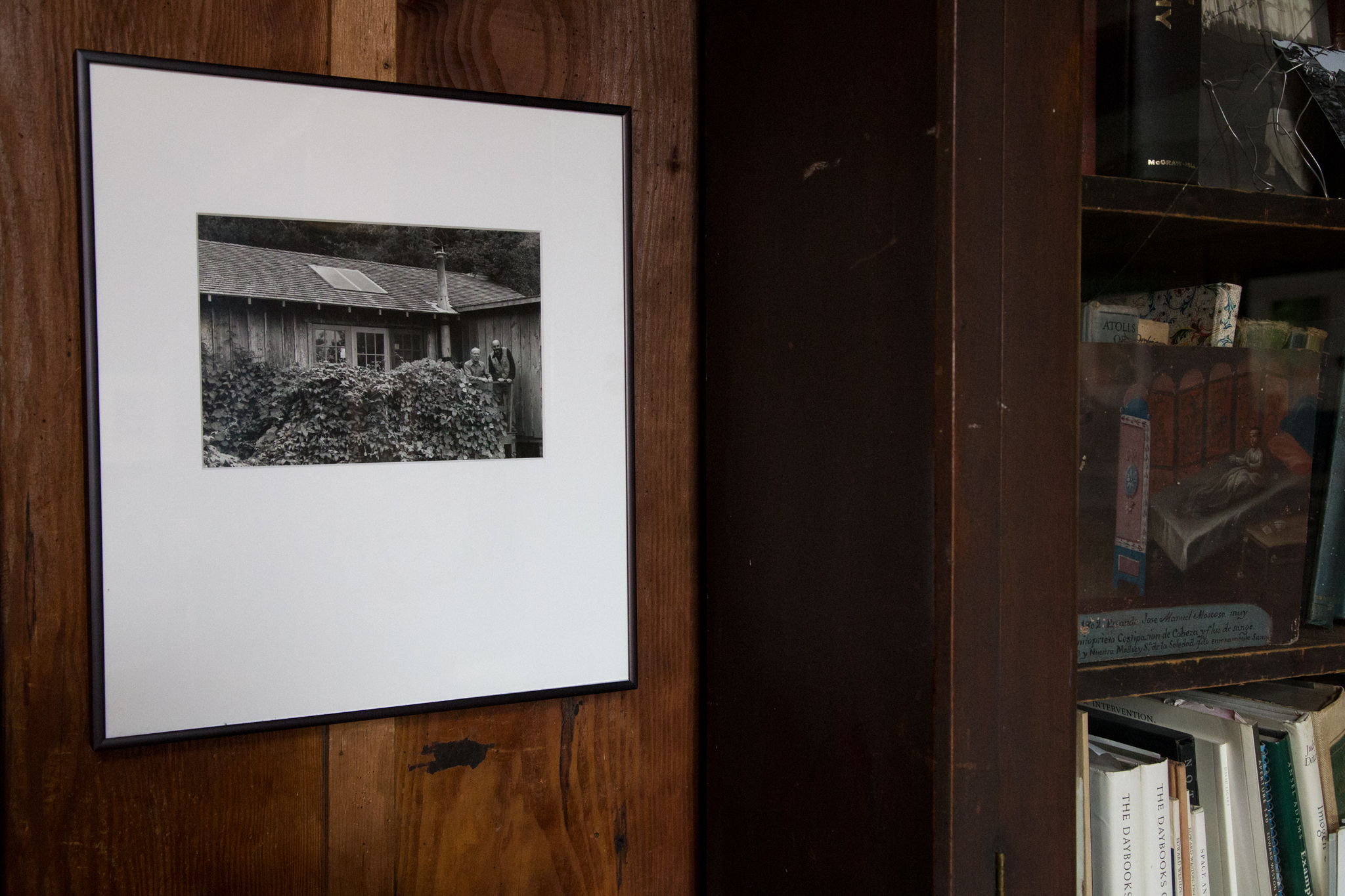 The photograph hangs next to Edward's Desk on Wildcat Hill