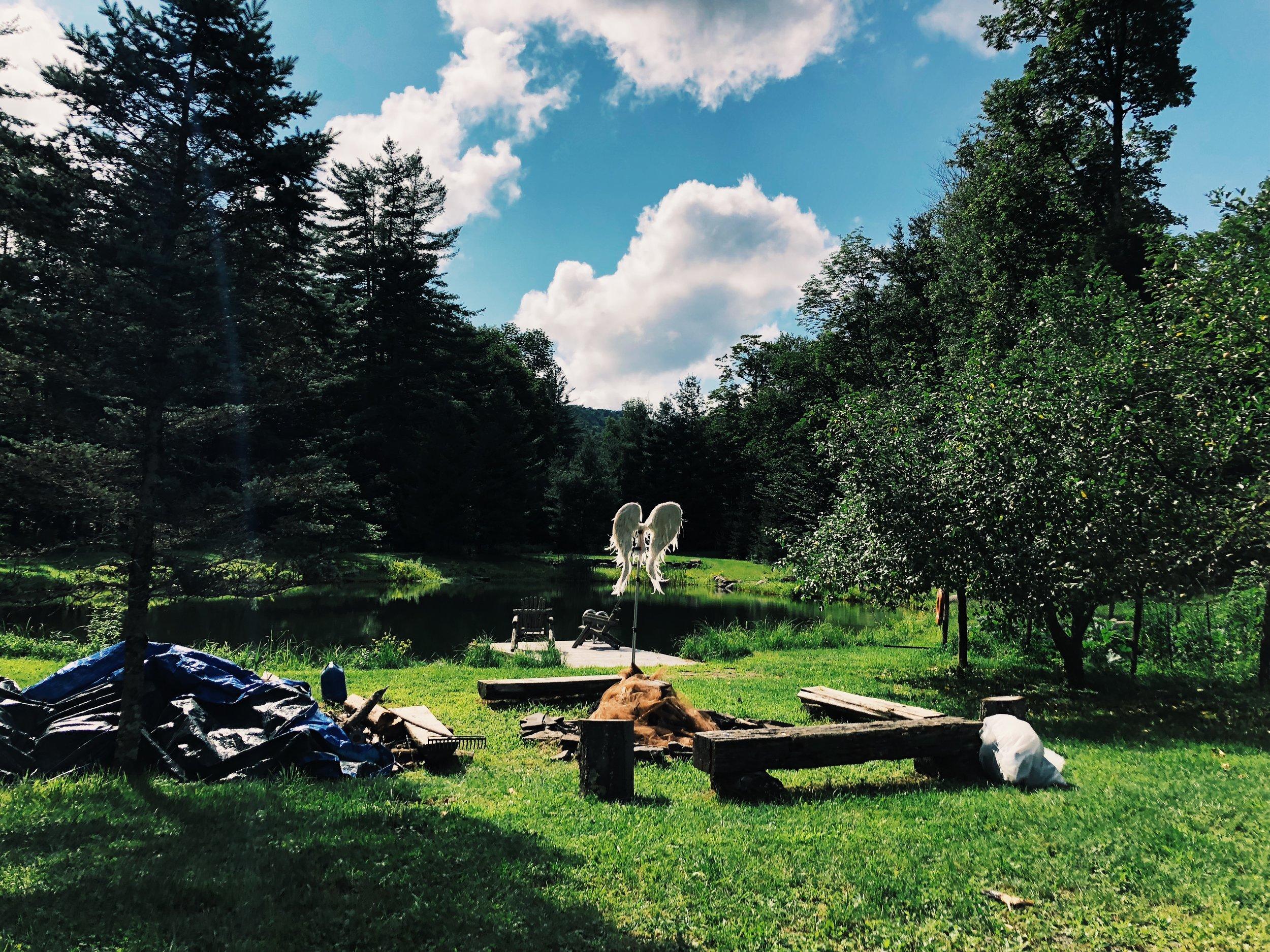 2017 Holz/Weston Workshop at Holz Farm in Phoenicia, NY  Photo by Annabelle Scott